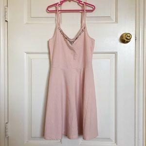 A&F pink skater dress